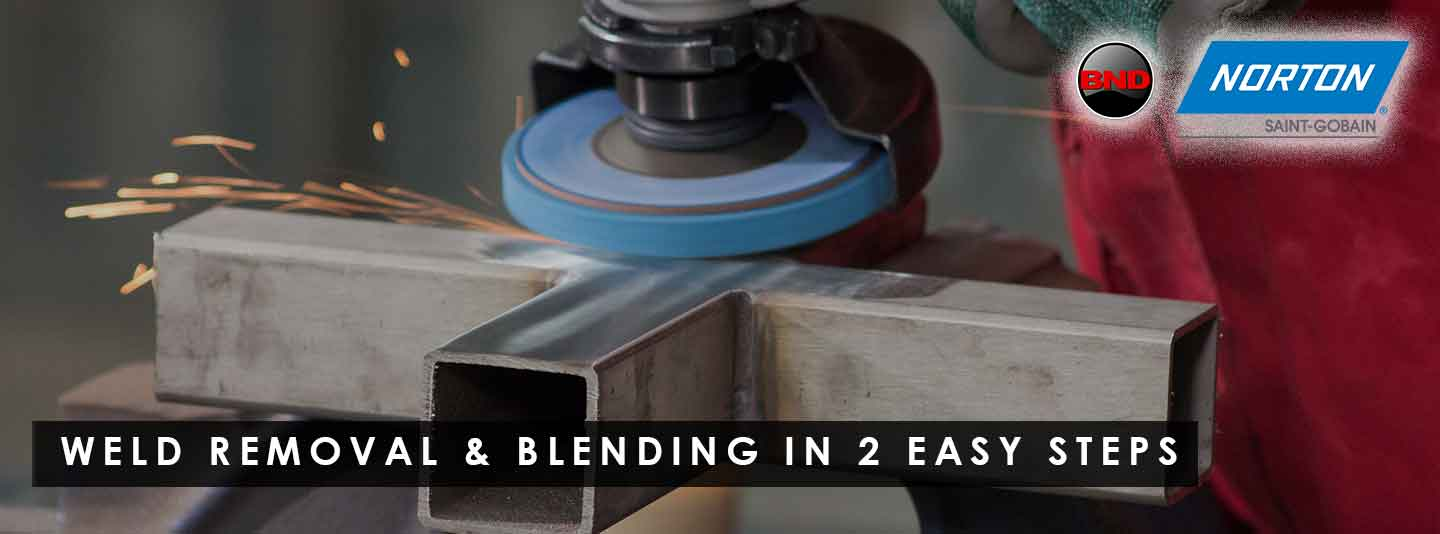 2-step weld removal and blending