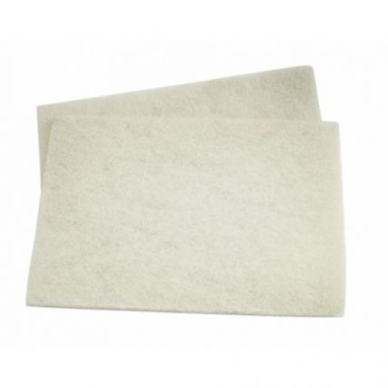 3M 7441 White Non-Abrasive ScotchBrite Handpad 115mm x 225mm (Pack of 10)