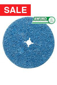 Awuko ZT62X Zirconia Cloth Floor Sanding Edger Disc 178mm with Centre Hole  - Pack of 50 (fits Lagler FLIP Edge Sander)