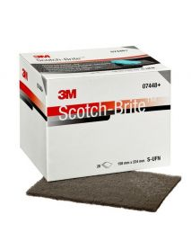 3M 7448 S Ultrafine ScotchBrite Handpad 155mm x 225mm (Pack of 20)