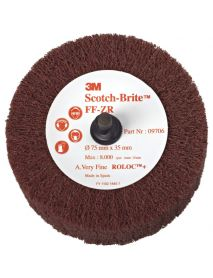 3M FF-ZR Clean & Finish Roloc Flap Brush 63mm x 32mm (Pack of 10)