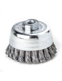 Lessmann Knot Cup Brush with Bridle 125mm x M14 STH0.35 1ROW - 487.117