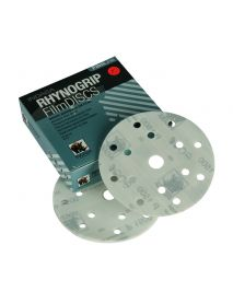 Indasa Rhynogrip Filmline Aluminium Oxide Self-Grip Discs 150mm 15 Hole P1500 - Pack of 50 (C40567)