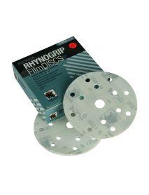 Indasa Rhynogrip Filmline Aluminium Oxide Self-Grip Discs 150mm 15 Hole P500 - Pack of 50 (C40757)
