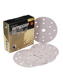 Indasa Rhynogrip HT Line Aluminium Oxide Self-Grip Discs 150mm 15 Hole  - Pack of 50