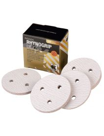 Indasa Rhynogrip HT Line Aluminium Oxide Self-Grip Discs 75mm 3 Hole  - Pack of 50