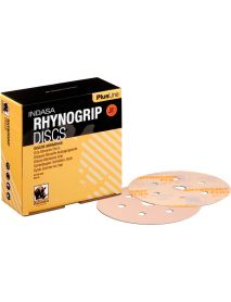 Indasa Rhynogrip Plusline Aluminium Oxide Self-Grip Discs 150mm 9 Hole  - Pack of 50