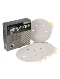 Indasa Rhynostick Whiteline Aluminium Oxide Self-Adhesive Discs 150mm 6 Hole  - Pack of 100