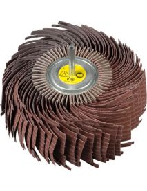 Klingspor MM630 Aluminium Oxide Abrasive Mop Wheel 180mm x 25mm x 6mm - Pack of 2-P180