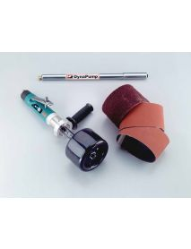 "Dynabrade 13525 Dynastraight® Finishing Tool Versatility Kit 1 hp, Straight-Line, 3,400 RPM, Rear Exhaust, 5/8""-11 Arbor"