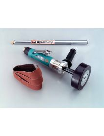 "Dynabrade 13535 Dynastraight® Finishing Tool Versatility Kit 1 hp, Straight-Line, 4,500 RPM, Rear Exhaust, 5/8""-11 Arbor"