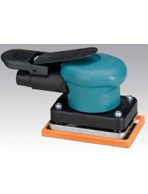 "Dynabrade 58500 3"" W x 4-1/4"" L (76 mm x 108 mm) Dynabug® II Orbital Sander, Non-Vacuum .15 hp, 10,000 RPM, 3/32"" (2.5 mm) Dia. Orbit, Rear Exhaust"