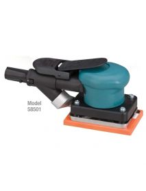 "Dynabrade 58501 3"" W x 4-1/4"" L (76 mm x 108 mm) Dynabug® II Orbital Sander, Self-Generated Vacuum .15 hp, 10,000 RPM, 3/32"" (2.5 mm) Dia. Orbit, Rear Exhaust"