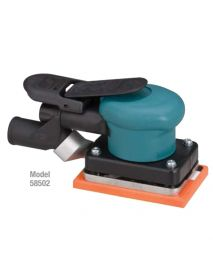 "Dynabrade 58502 3"" W x 4-1/4"" L (76 mm x 108 mm) Dynabug® II Orbital Sander, Central Vacuum .15 hp, 10,000 RPM, 3/32"" (2.5 mm) Dia. Orbit, Rear Exhaust"