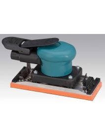 "Dynabrade 58507 2-3/4"" W x 7"" L (70 mm x 178 mm) Dynabug® II Orbital Sander, Non-Vacuum with Clips .15 hp, 10,000 RPM, 3/32"" (2.5 mm) Dia. Orbit, Rear Exhaust"