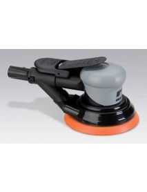 "Dynabrade 69038 5"" (127 mm) Dia. Self-Generated Vacuum Dynorbital® Silver Supreme Random Orbital Sander .26 hp, 12,000 RPM, 3/32"" (2.4 mm) Dia. Orbit, Rear Exhaust"
