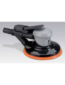 "Dynabrade 69043 6"" (152 mm) Dia. Self-Generated Vacuum Dynorbital® Silver Supreme Random Orbital Sander .26 hp, 12,000 RPM, 3/32"" (2.4 mm) Dia. Orbit, Rear Exhaust"