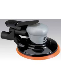 "Dynabrade 69044 6"" (152 mm) Dia. Central Vacuum Dynorbital® Silver Supreme Random Orbital Sander .26 hp, 12,000 RPM, 3/32"" (2.4 mm) Dia. Orbit, Rear Exhaust"