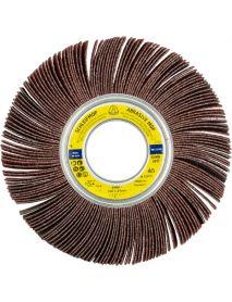 Klingspor SM611 Aluminium Oxide Abrasive Mop Flap Wheel  165mm x 25mm x 25.4mm - P80
