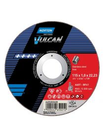 Norton Vulcan INOX Slitting Disc 115mm 2.5mm x 22.23mm TYPE 42 (Pack of 25)