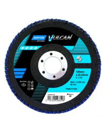 Norton R842 Vulcan Zirconia Angled Flap Discs 180mm x 22mm  - Pack of 10