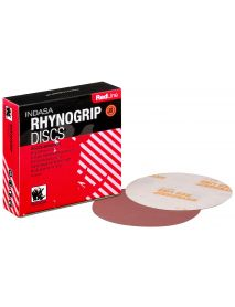 Indasa Rhynogrip Redline Aluminium Oxide Self-Grip Discs 150mm Plain / No Hole P800 - Pack of 50
