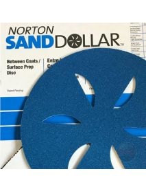 Norton Sand Dollar Surface-Prep Discs  407mm Blue Coarse - Pack of 4 (662611941099)