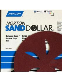 Norton Sand Dollar Surface-Prep Discs  407mm Red Medium - Pack of 4 (662611941143)