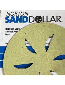 Norton Sand Dollar Surface-Prep Discs  407mm Yellow Fine - Pack of 4 (662611941150)