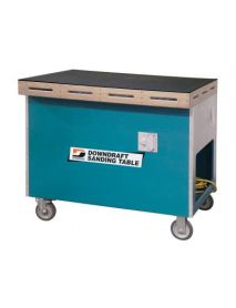 """Dynabrade 64202/SP 33"""" W x 41"""" L Downdraft Sanding Table """"Sitting Position"""" with Bottom Exhaust , (optional Rear exhaust: SP/RE) included 1x22058 Pressure Gauge Kit and 2x folding handles"""