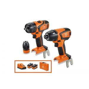 FEIN Brushless Combi Hammer Drill/Impact Driver Twin Kit - ASB18Q - ASCD18 - Q2 PROMO