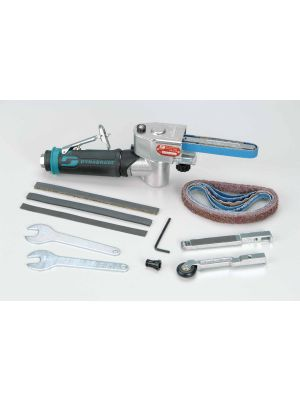 Dynabrade 15006 Mini-Dynafile® II Abrasive Belt Tool Versatility Kit .4 hp, 7 Degree Offset, 25,000 RPM, Rear Exhaust, for 1/8