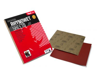 Indasa Rhynowet Redline Aluminium Oxide Wet and Dry Sheets 230mm x 280mm  - Pack of 50
