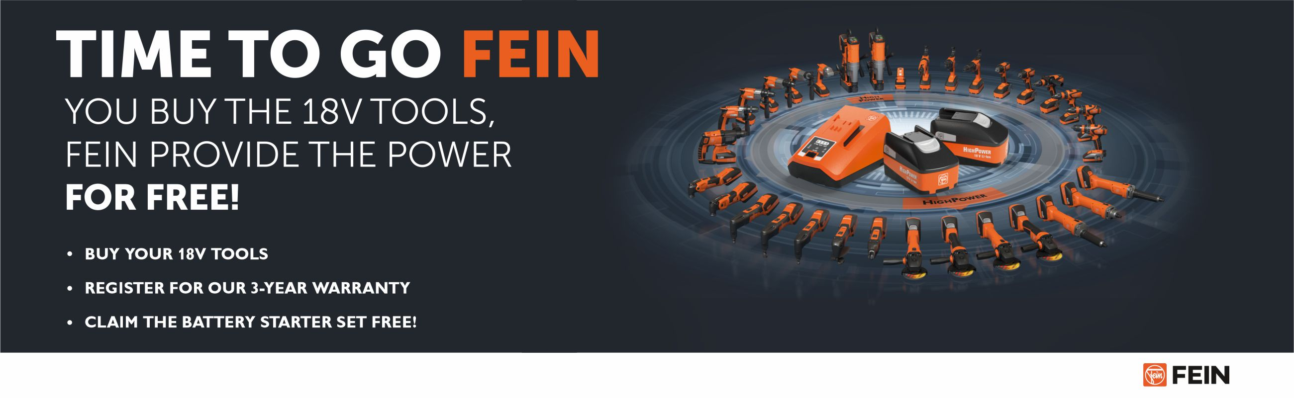 Fein Cordless Power Tools FREE Battery Pack Img