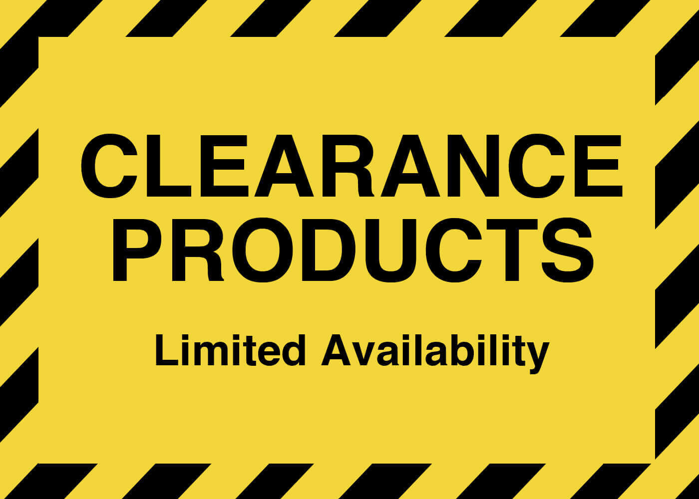 CLEARANCE ITEMS BANNER